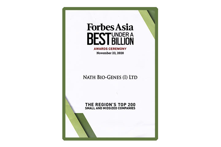 Forbes List of Best Under a Billion Asia Pacific 2020